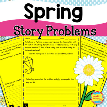 32 Days of Differentiated Story Problems - Spring Edition {NBT.B.6, NBT.B.7}