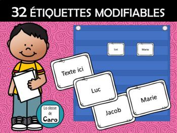 32 ÉTIQUETTES MODIFIABLES (FRENCH FSL)