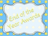 32 End of Year Awards Editable Customizable Student Awards
