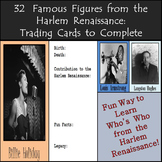 Black History Month - Famous Figures from the Harlem Renaissance: Trading Cards