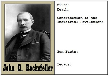 32 Famous Figures from the Industrial Revolution: Trading Cards to Complete