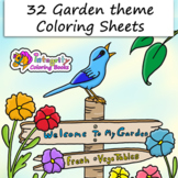 32 Garden Coloring Pages - Spring, Earth Day, Plants and Animals