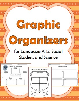 32 Graphic Organizers for Language Arts, Social Studies, a