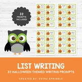 32 Halloween List Writing Prompts and Recording Sheets