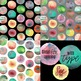 32 Hand-painted Watercolor Digital Clip-art Blobs
