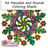 32 Mandala Coloring Pages - Fun Activity (K-3)