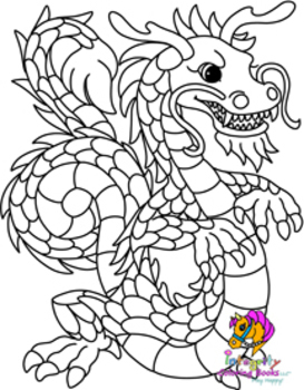 32 Mythical Dragon Coloring Pages - Fun Activity (K-6) | TpT