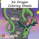 32 Mythical Dragon Coloring Pages - Fun Activity (K-6)