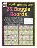 32 NO PREP Boggle Boards (long and short vowels, blends, d
