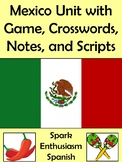 32 Page Mexico Unit with Game, Crosswords, Notes, and Scripts