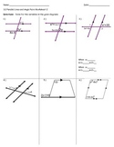 3.2 Parallel Lines and Angle Pairs Worksheet 2