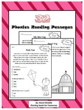 32 Phonics Reading Passages