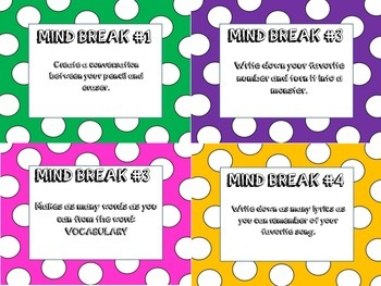 32 Prefix Task Cards or Scoot Game Includes Mind Breaks- Word Study