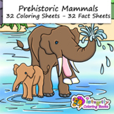 Prehistoric Mammals Coloring Pages - Ice Age Animals (with fact sheets!)