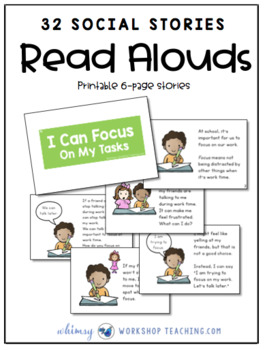 32 Printable Social Stories (Classroom Management and Social Skills)