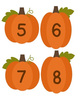 32 Pumpkin Puppets - use for counting, songs, poems, calendar