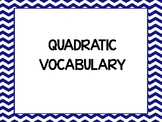 32 QUADRATIC ALGEBRA VOCABULARY WORDS WORD WALL / BULLETIN BOARD / ANCHOR CHART