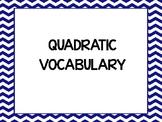 32 QUADRATIC ALGEBRA VOCABULARY WORDS WORD WALL / BULLETIN