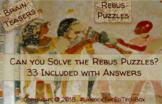 33 Rebus Puzzles - Brain Teasers - STEM Project - Team Building - GT