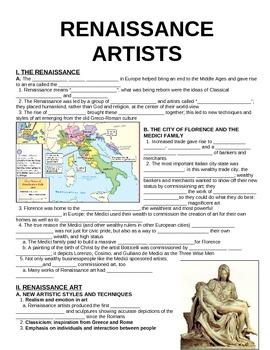 UNIT 6 LESSON 2. Renaissance Artists GUIDED NOTES