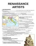 WORLD UNIT 6 LESSON 2. Renaissance Artists GUIDED NOTES