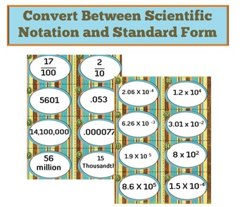 32 Scientific Notation Task Card Bundle
