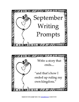 32 September Writing Prompts
