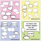 32 Speech and Thought Bubble Clip Art Images - Clipart Commercial Use OK