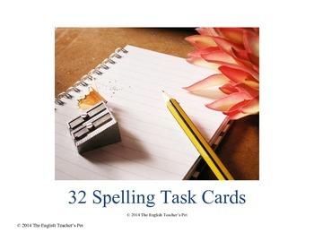 32 Spelling Task Cards