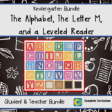 32 Student Pages:  The Alphabet, The Letter M, and a Kinde