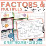 32 TASK CARDS: FACTORS: MULTIPLES: PRIME: COMPOSITE: PRIME FACTORIZATION: GCF