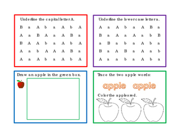 32 Task Cards Variety Theme Unit Letter A Letter B Underli