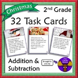 32 Task Cards for 2nd Grade Addition and Subtraction - Chr