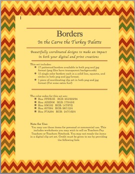 32 Thanksgiving Clip Art Borders for both Personal & Commercial Use