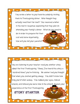 32 Thanksgiving Writing Prompts