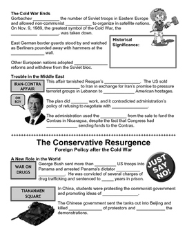 32 - The Conservative Resurgence - Scaffold/Guided Notes (Blank and Filled-In)