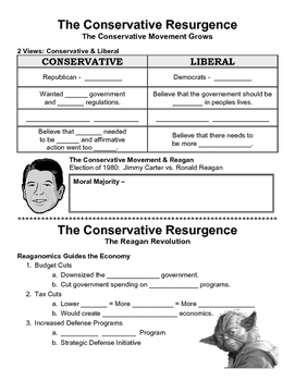 32 - The Conservative Resurgence - Scaffold/Guided Notes (