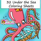 32 Under the Sea Coloring Pages - Fun Activity (K-3)