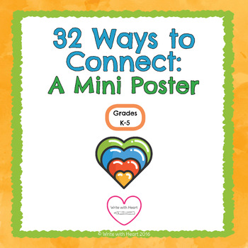 32 Ways to Connect: A Mini Poster