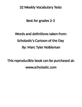 32 Weekly Vocabulary Tests