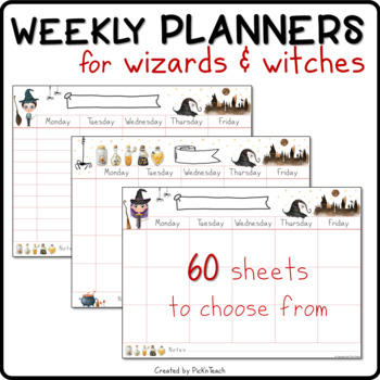 32 PRINTABLE Weekly timetables for Harry Potter fans - schedules