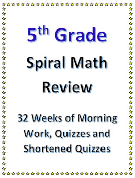 5th Grade Spiral Math Review | 5th Grade Morning Work Bundle