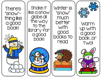 32 Winter Bookmarks