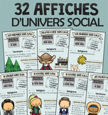 BUNDLE - 32 affiches d'univers social - cycle 3