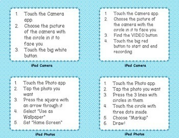 Editable! 32 iPad Technology Task Cards!