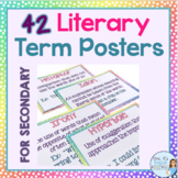 42 literary term posters for secondary ELA - middle school and high school