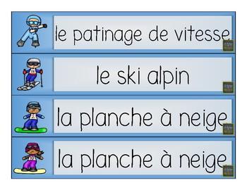 32 mots-étiquettes des sports d'hiver (jeux olympiques) [FRENCH] [FRANÇAIS]
