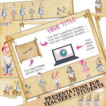 "32 presentation templates ""CHRISTMAS season"" for Google Slides™ - parchment"