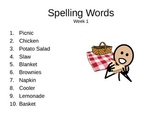 32 weeks of Spelling Words
