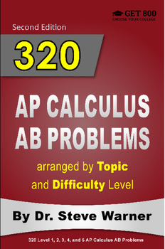 320 AP Calculus AB Problems Arranged by Topic and Difficulty Level